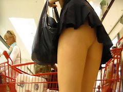 candid upskirt in public