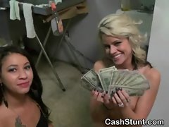Money Talks Stunt Ends In Shared Facial In Kitchen