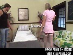 Nurse In Fishnets Hardcore Sex