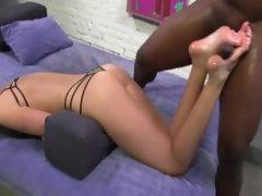 Naughty fetish slut paddles cock
