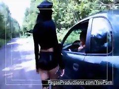 Lesbian Cop Uses Baton