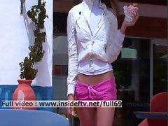 Suzanna _ Amateur blonde toying with her pussy in a public place