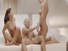 Unbelievable Sweden fairhairs threesome