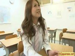Asian In School Uniform Get Hard Sex video-35