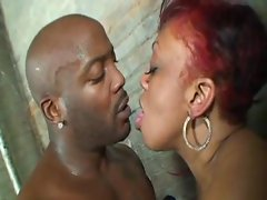 Interracial threesome with two curvy girls