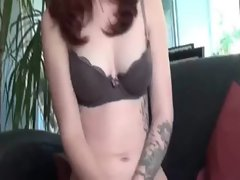 Redhead amateur receives facial after horny fucking on camera