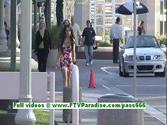 Shana angelic brunette teenage public flashing tits and pussy