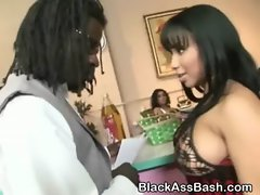 Black Girl With Big Booty And Tits Sucks Dick In Salon