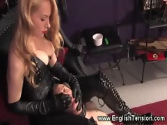 Mistress has control over gimps breath