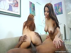 havanna ginger threesome in the office