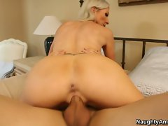 Sassy Emma Starr rides this cock up her wet snatch
