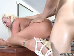 Sleazy Serena Marcus is pounded up her wet gash