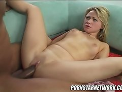 Slutty star Sindee Jennings takes a big cock in her spread pussy and loves it.