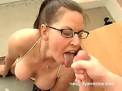 Selena Steel gets the cumshot of her dreams after a hard fuck.