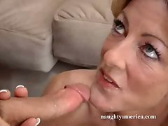 After a hard fuck, Lexi Carrington delights in the delicious cumshot she earned