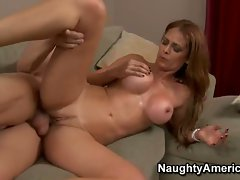 Horny Monique Fuentes enjoys getting her tight pussy fucked hard
