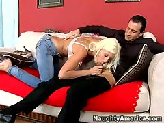 Nasty slut godess Puma Swede likes to get on her knees and worship dick