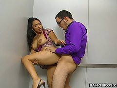 Jessica Bangkok gets her tight asian pussy stuffed from behind.
