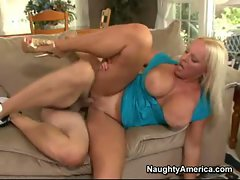 Sexy milf Alexis Golden enjoys a fat dick pounding her juicy pussy
