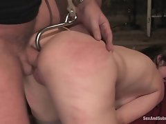 Pornstar bitch enjoys a fat meatpole in her tight ass and her pussy played with