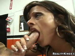 Dashing milf Arianna LaBarbara gets her smooth beaver nailed hard
