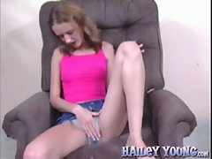 Hailey Young is a bodacious cutie who gets her shaved twat banged hard