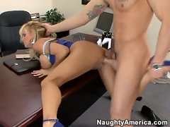 Who is the Boss?  Holly Halston takes charge in the office with hot sex.