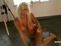 Puma Swede hot babe get naked on the floor