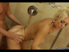 Charlee Chase let son's friend hot dick ride her hard
