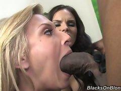Brooke Biggs and Mackenzee Pierce suck hard cock