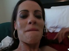 Ex Girlfriend babe filled with cum on her face