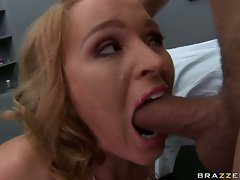 Krissy Lynn force choking self with hard cock