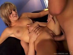Filthy Kimberly Kane enjoys a hard double penetration