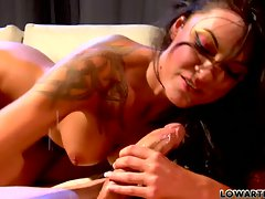 Chayse Evans brunette babe feel up a hard on cock