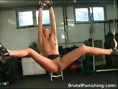 Hard core bondage and brutal punishement part4