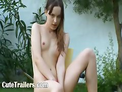 Ivana teen getting wet on the outdoor