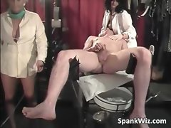 Two sexy nurses check out guys ass hole part1