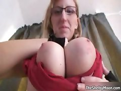 Nasty blonde slut goes crazy playing part1