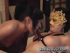 Strapon fucking lesbian girlfriends part5