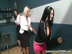 Hot busty babes get horny jerking part3