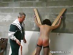 Tied sexy brunette gets her hot ass part6