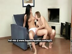Lien and Karlin lovely lesbo babes toying