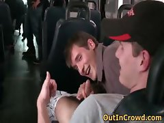 Young Dudes having Gay Sex in the bus part1