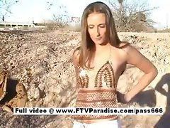 Independent Gorgeous girl gets naked outdoor