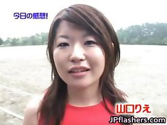 Real asian amateur in naked track and field part4