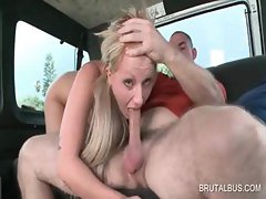 Blonde siren gets cunt and ass fingered