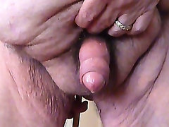 Prostate massage and cum