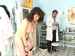 Mature Karla needs her extremely hairy old pussy examin
