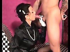 Satin - mature sucks dick