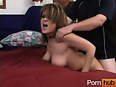 MILF gets fucked by fat man